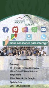 Folder da Sede IP Monte Sião - Redes Sociais